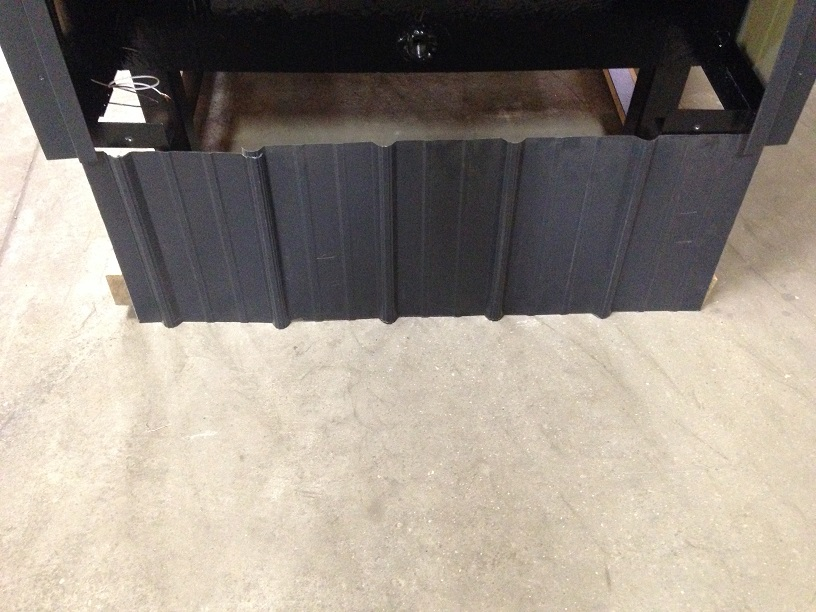 outdoor wood stove skirting rear