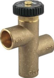 mixing valve for outdoor wood stove